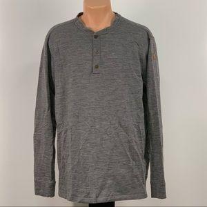 Fjallraven Grey Henley Button Up Shirt